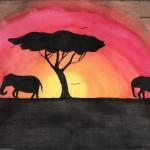 Afrika, Aquarell