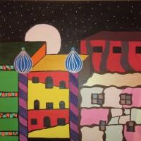 Hundertwasser, Acryl