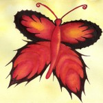 Schmetterling, Aquarell