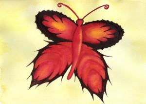 Schmetterling, Aquarell