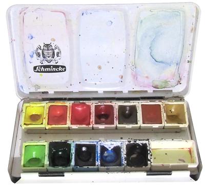 Aquarell-Farben