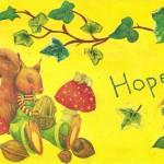 Hope, Hoffnung, Serviettentechnik